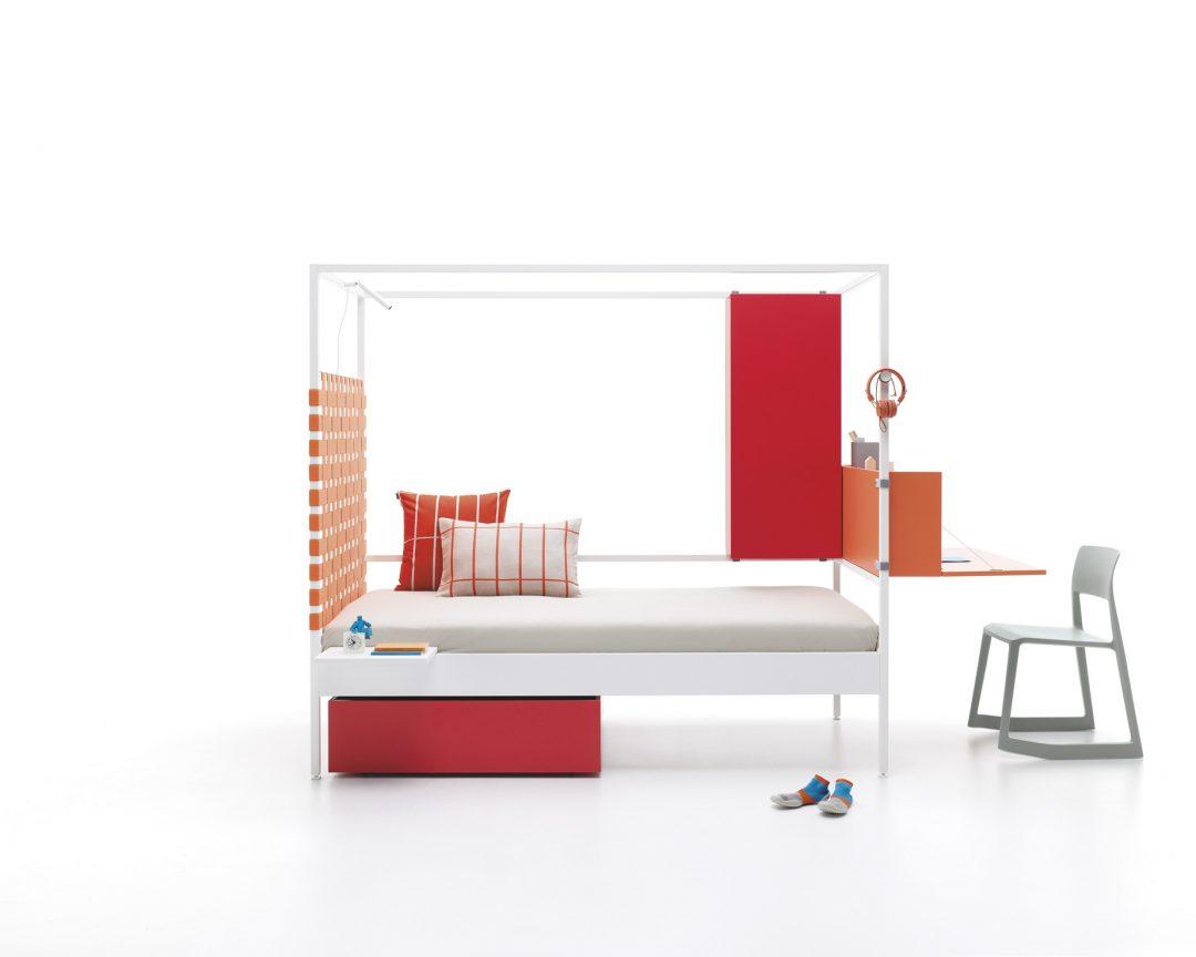 Quiero una cama de color rojo