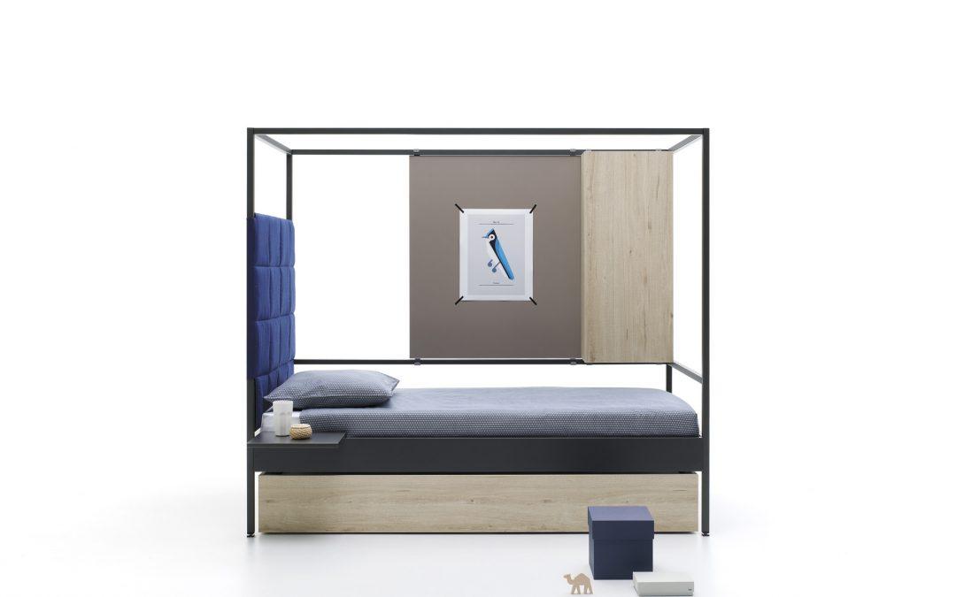 Cabezal acolchado en cama nook