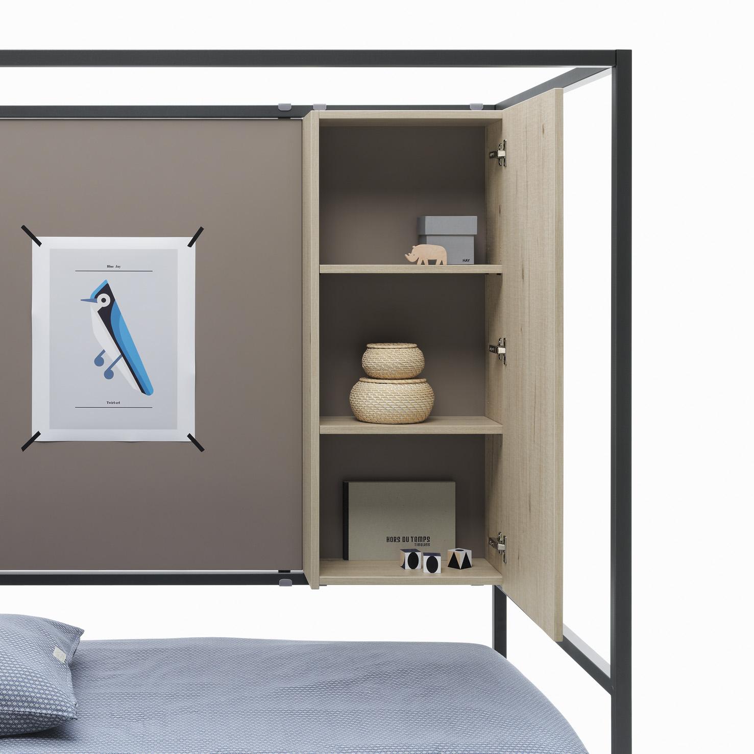 Modulo contenedor vertical en cama nook