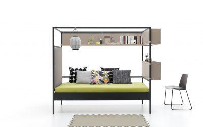 Cama con dosel de hierro, la última tendencia en decoración de habitaciones