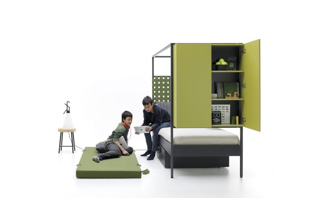 Complementos para la cama con estructura metálica