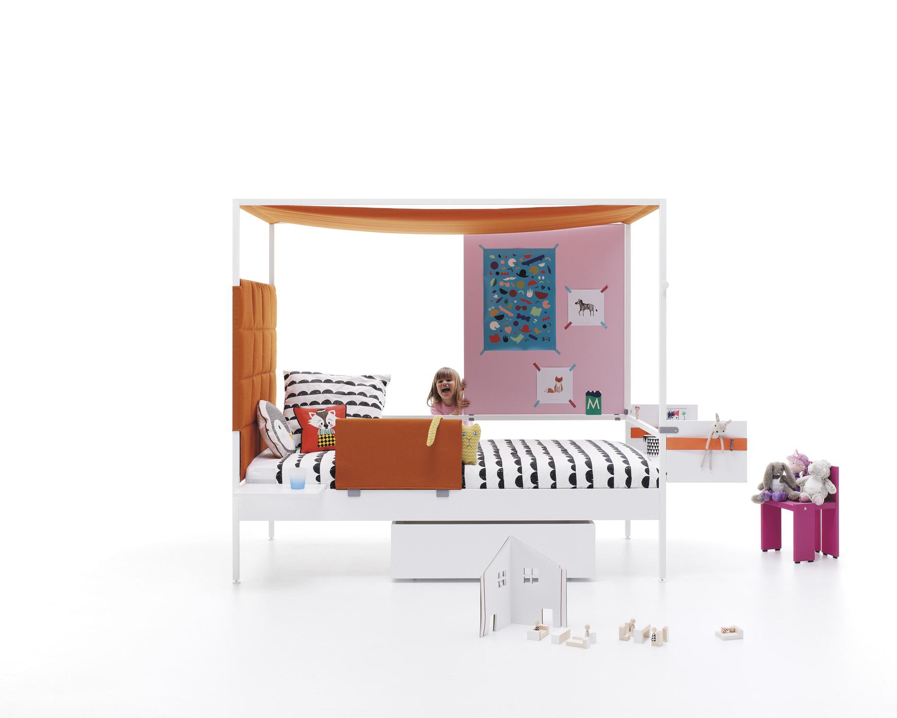 Cama con dosel para ni a con muchas posibilidades nook bed - Dosel para cama nina ...