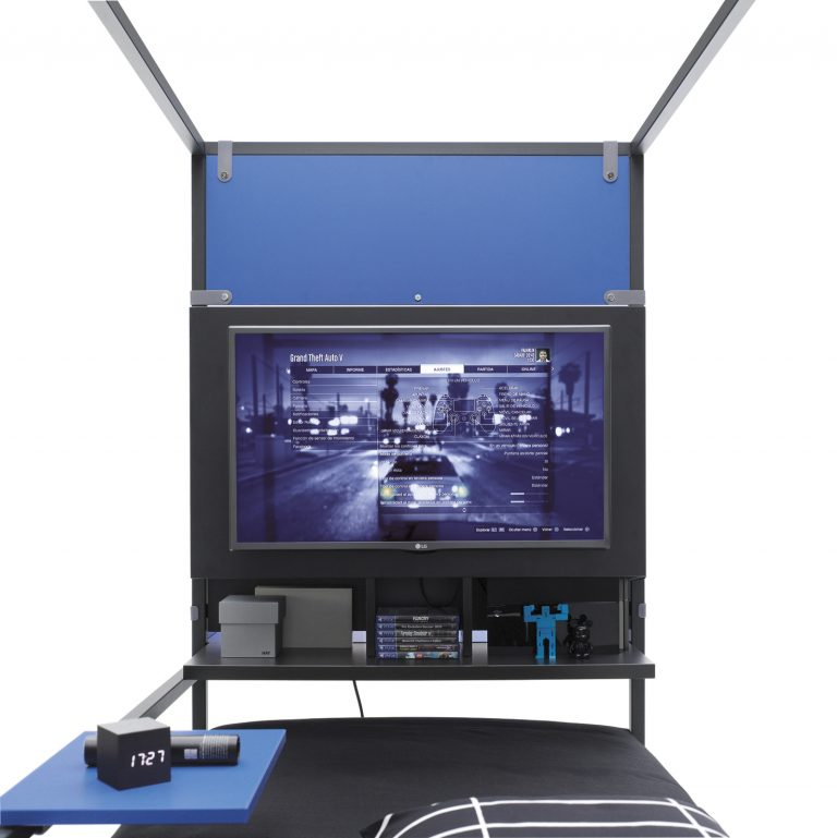 Nook Bed espacio para tu televisión y consola de juegos