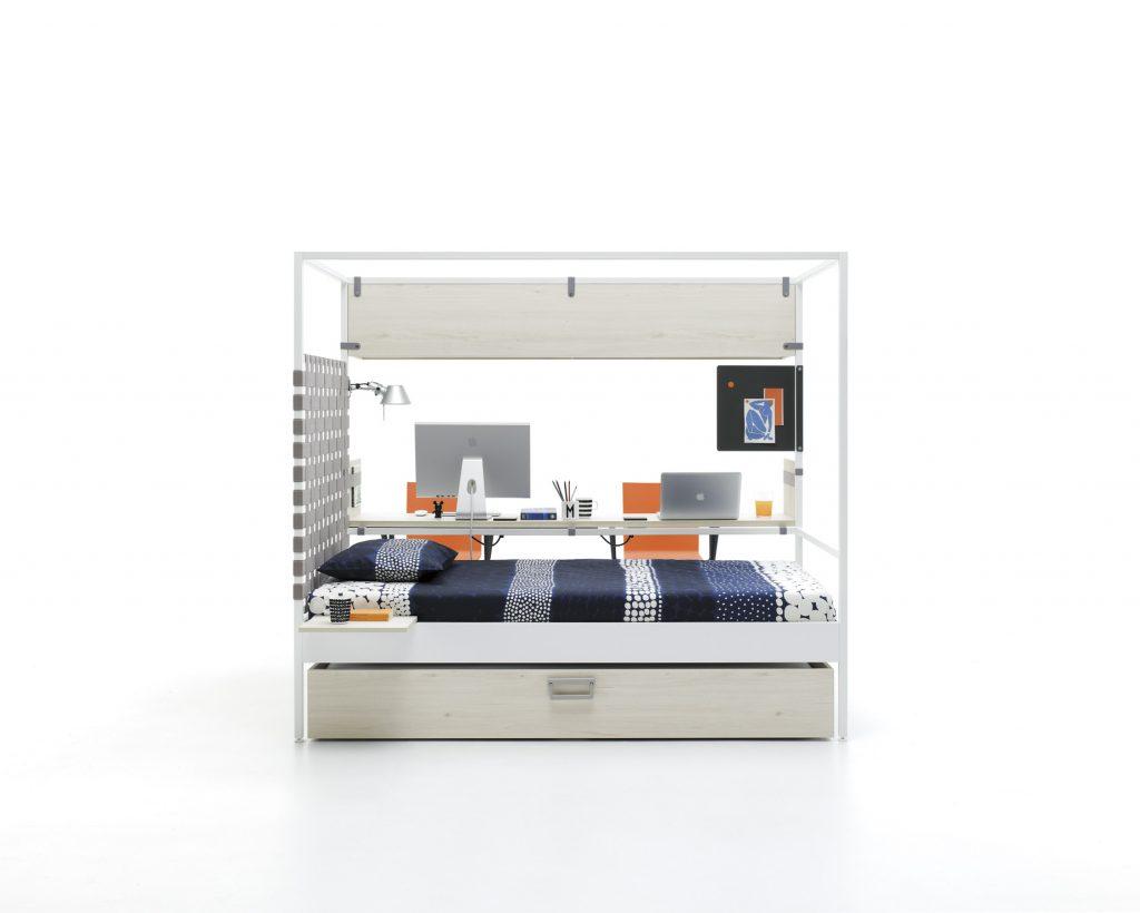 Nook apto para 2 plazas con cama arrastre y escritorio doble