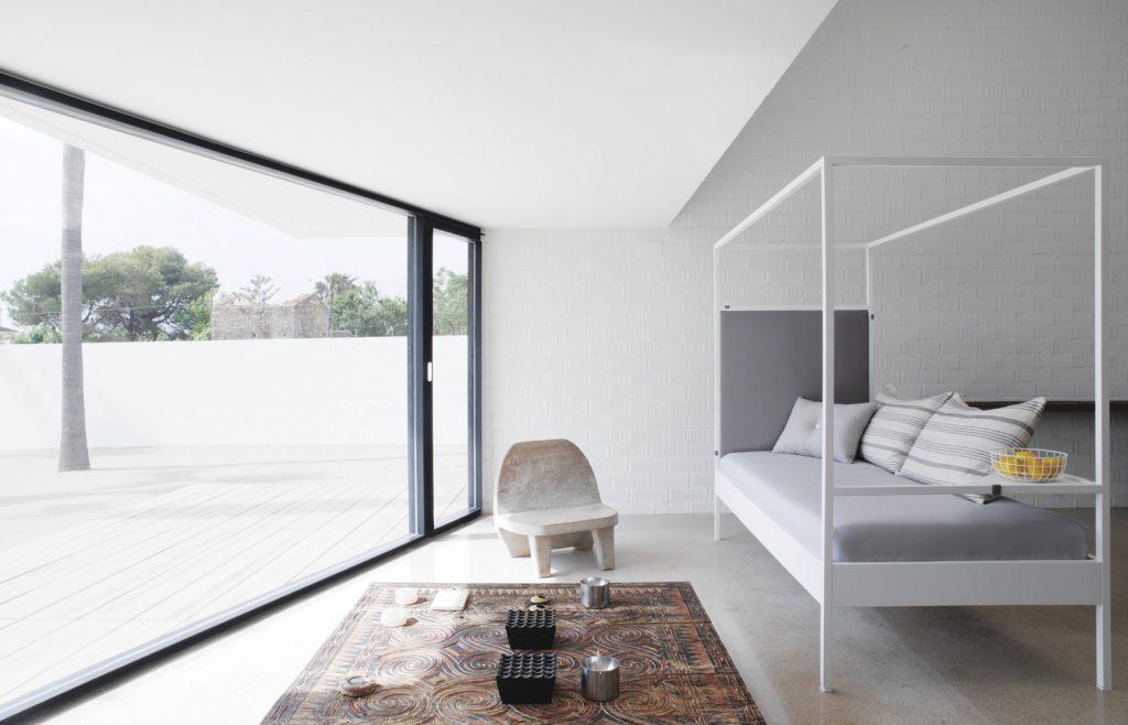 Dormitorio moderno con la cama Nook