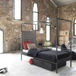 Ambiente industrial con una cama Nook Singular Beds