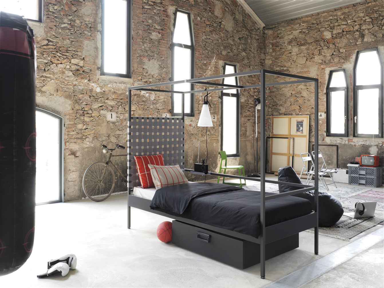 Un diseño industrial con Nook Bed